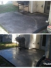 Pressure washing to remove black stains from patio. We service all of Atlanta, Metro-Atlanta, Peachtree City, Fayetteville, & more