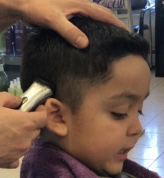 Ti Ja Professional Hair Stylists - Fairbanks, AK. Warming up to the clippers