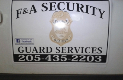 F&A Security Guard Service - Jasper, AL. Facebook us today! see our videos!