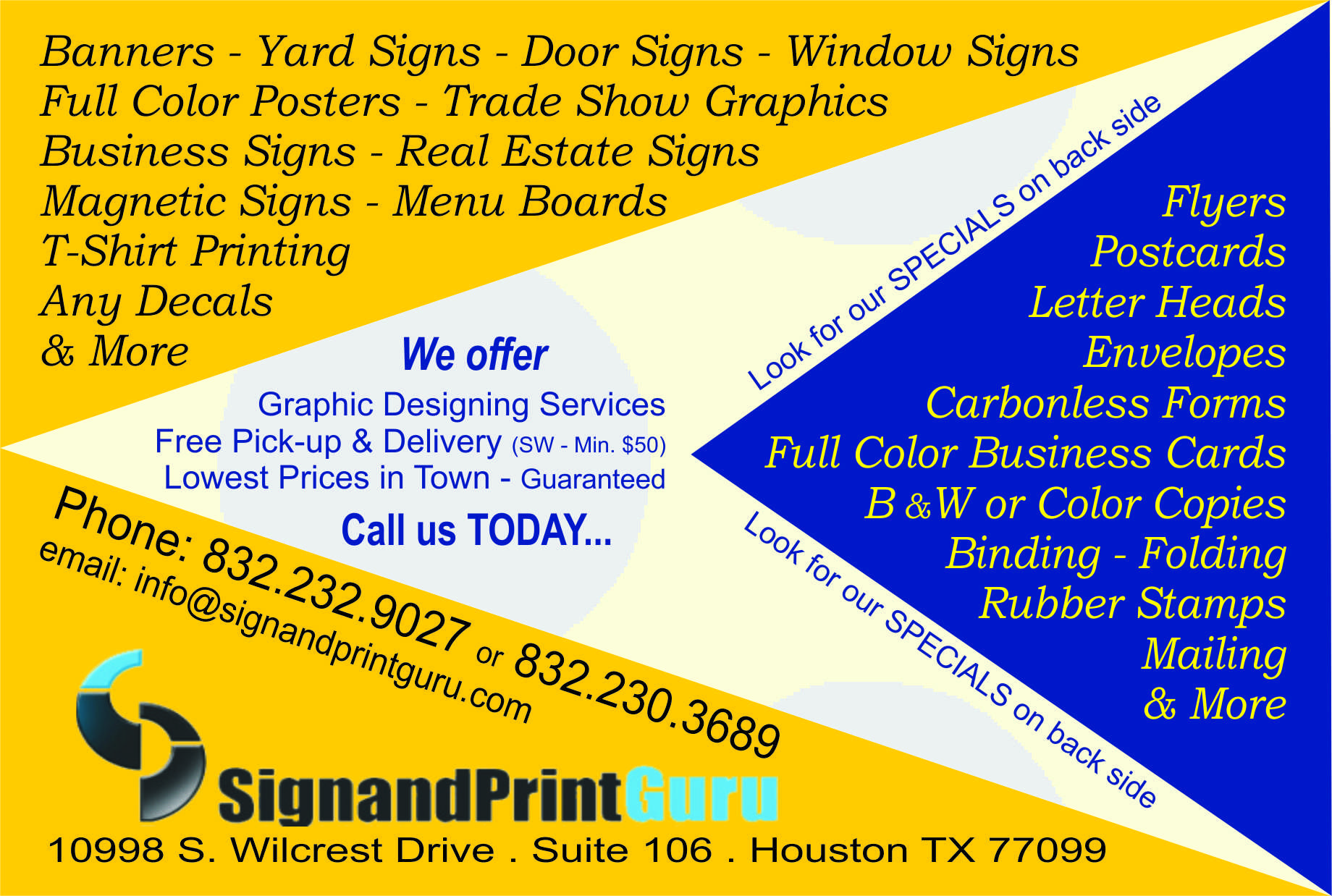 sign and print guru houston tx yp