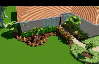 Willis Lawn and Landscape - Sarasota, FL. 3D landscape design development