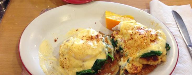 Crab cake eggs Benedict. Delicious!