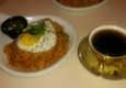 Haus by coffee hunter - Los Angeles, CA. Kimchi fried rice and El Salvador coffee