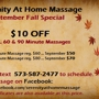 Serenity At Home Massage