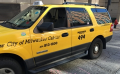Yellow City Of Milwaukee Cab