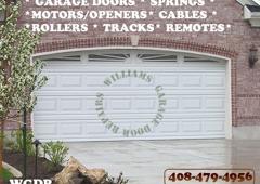 Williams Garage Door Repairs   Morgan Hill, CA