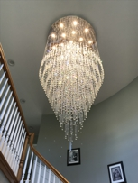 Crystal chandelier, Manlius,NY