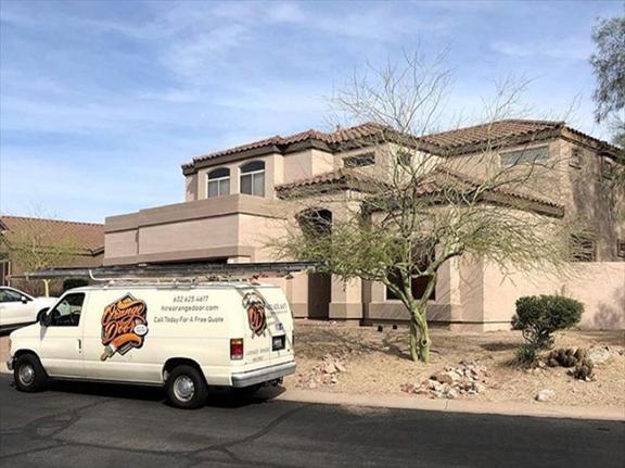 Orange Door Painting - Phoenix, AZ