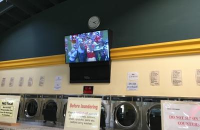 AA Laundry - Hayward, CA. 4K Big Screen TV