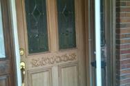 Mrs, Morse front door sides are done the doer is still primmed!