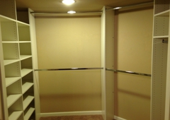 Affordable closet & more - Canyon country, CA. Walk in closet had 13 ft. Of hanging area , now with16ft. Hanging area, 2ft. Long hang area, and over 40ft of adjustable shelving. https://m