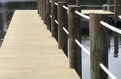 Farris Marine & Decking Services, LLC - Virginia Beach, VA. L head pier with rope rail