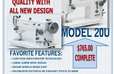 Ism Services llc - Highland, IN. A favorite just got better!  Zigzag Model 20U handles JEANS to SILKS--at a great price.  Details at ISM SERVICES LLC (800) 548-2595