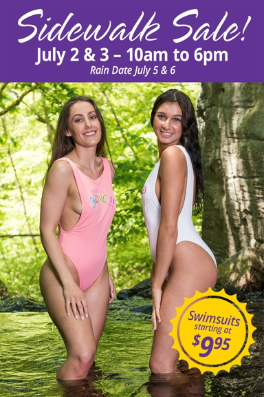 Tina's Fine Lingerie/Swimwear - Middletown, CT. Store wide sale!! July 2nd, 3rd rain.