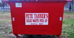 Pete Tanner's Solid Waste - Delta, MO. Rollaway Dumpsters Available for Rental