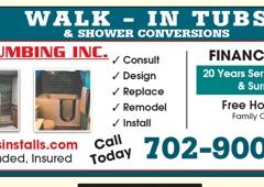 Capital Plumbing Inc - Las Vegas, NV. Walk-in tubs  Shower Conversions