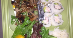 SanSai Japanese Grill - Burbank, CA. Beef and California roll.