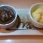 Haus - Los Angeles, CA. Choco souffle with vanilla ice cream