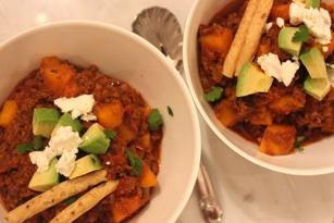 Recipe for Bison Butternut Squash Chili by Lizette Leanza