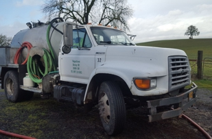 One of our trucks cleaning in the countryside.