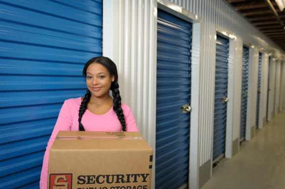 Security Public Storage - Oceanside, CA. tenant with storage box