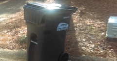 American Disposal Service - Acworth, GA. Too lazy to even pulling from road