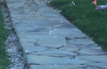 Incomplete walkway left for months and never finished