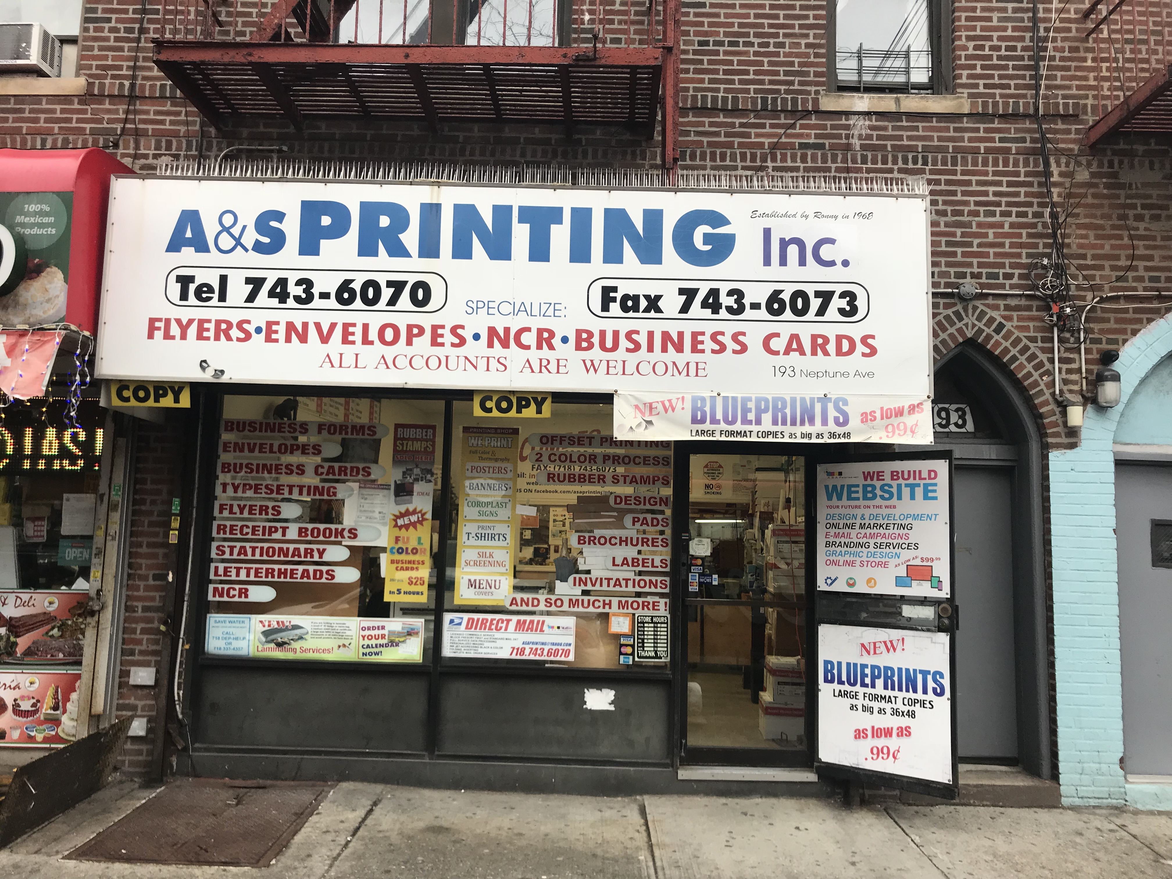 As printing inc 193 neptune avenue brooklyn ny 11235 yp malvernweather Images