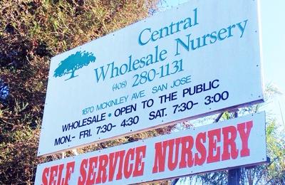 Central Whole Nursery San Jose Ca