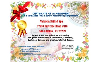 Valencia Nails & Spa - San Antonio, TX