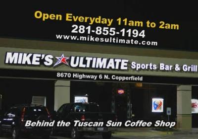 Mike's Ultimate Sports Bar 8670 Highway 6 N, Houston, TX