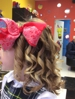 Look .... gorgeous up do for a 6 years old girl...... amazing curls....