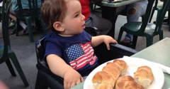 C&O Trattoria - Marina Del Rey, CA. Offered non garlic smothered rolls to baby. Kid's missing out