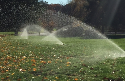 Morning Dew Lawn Sprinklers Inc. - White Plains, NY. Morning Dew Lawn Sprinklers just finished a lawn sprinkler installation on this beautiful 2 acre property in Westchester County, NY.