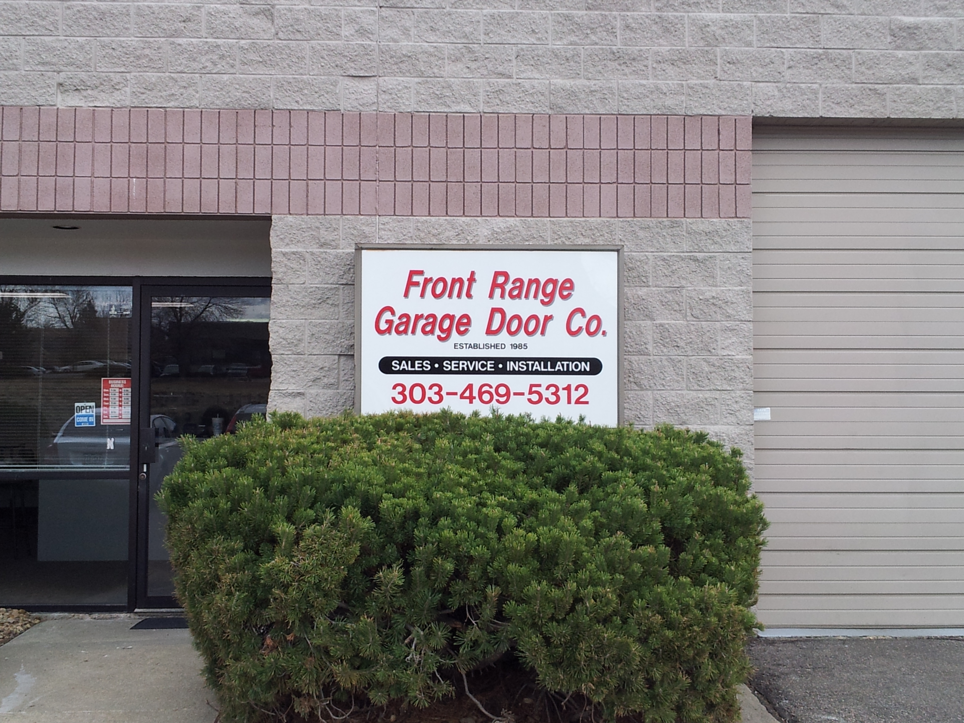 Front Range Garage Door Co 1200 Diamond Cir Ste N Lafayette 80026 Yp