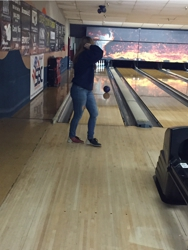 Allie going for the strike!