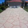 Ace Advanced Coating Experts - Weeki Wachee, FL. Modified Non skid Coating. Terra Cotta base with Buff and Oyster white.