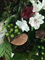 Stones, mushrooms, pinecones, stones, berries.  Amazing