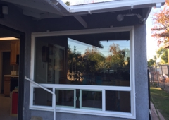 A-1 Home Improvement - North Hollywood, CA. Outside view of custom picture window for handicap persons bedroom
