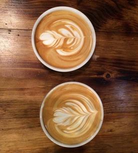 Coffee at Devocion in Brooklyn, NY