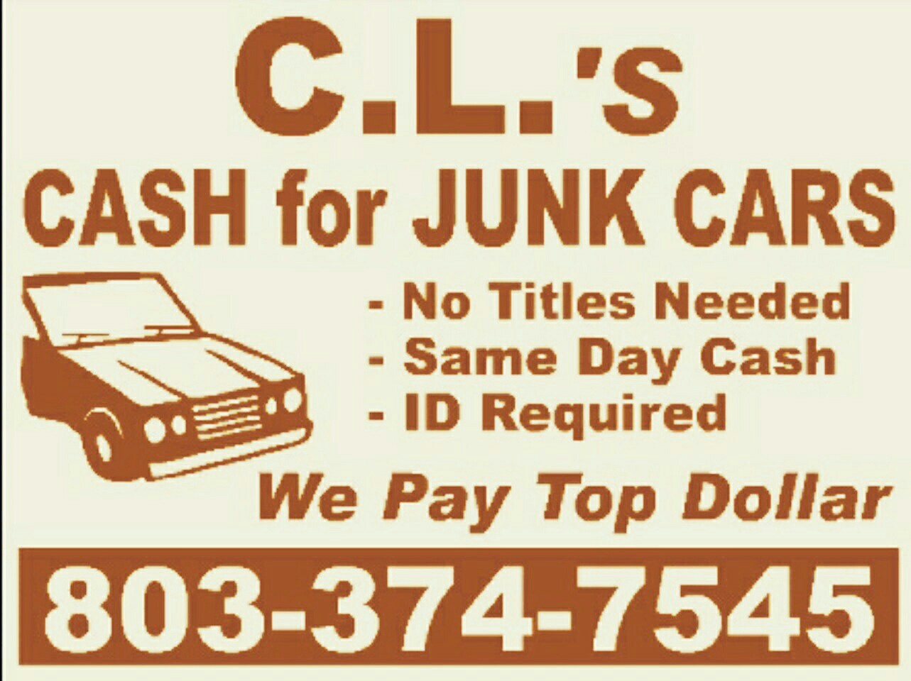 CL\'s Cash for Junk Cars 29706 - CLOSED - YP.com