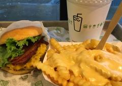 Shake Shack - Atlanta, GA. Bacon cheeseburger and cheese fries