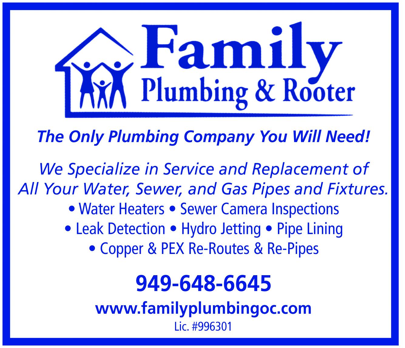 Family Plumbing & Rooter 1835 Newport Blvd, Costa Mesa, CA 92627 ...