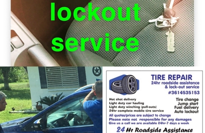 Tire repair roadside and lockout service - Sandia, TX. 24 hour lockout service