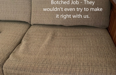 Allied Foam Fabricators Inc - Oklahoma City, OK. Allied's BOTCHED JOB THE FIRST DAY HOME. They wouldn't even try to make it right.  $292.00 FOR 5 CUSHIONS