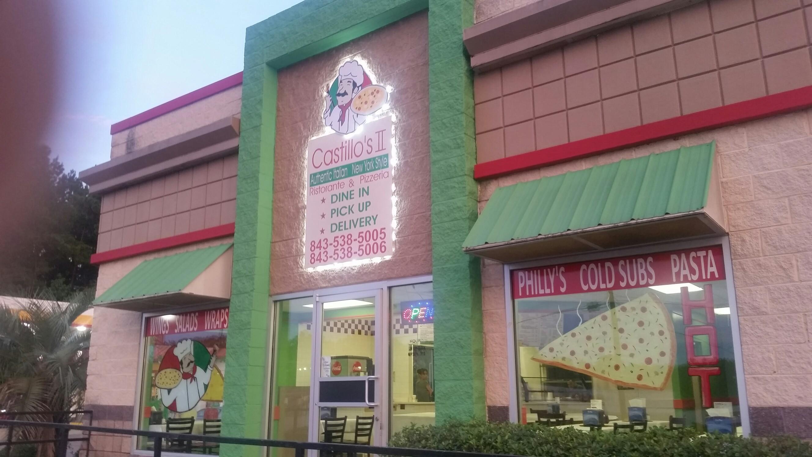 Castillo's Pizzeria 2, Walterboro SC