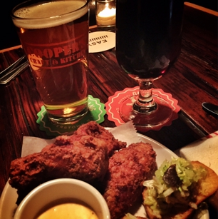 Craf beer and wings at Coopers Craft & Kitchen in New York, NY