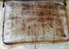 Termination Dust Plus - Anchorage, AK. The oven door after cleaning.