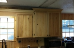 Cabinets in Wayne Toups house we done in Lafayette