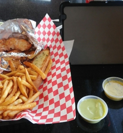 Strip N Dip Chicken Strips - Las Vegas, NV. Finger kicking good ����.  Chicken strips can be fried, grilled, or baked, and they deliver!  My sauces, wasabi cream, honey mustard,swt chili